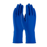 PIP Ambi-Thix 62-327PF Blue Large Disposable Cleanroom Gloves - 12 in Length - Rough Finish - 13 mil Thick - 62-327PF/L