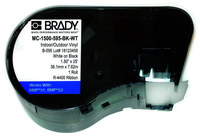 Brady M71C-2000-595-BK Black Vinyl Continuous Thermal Transfer Printer Label Roll - Indoor / Outdoor - 2 in Width - 50 ft Length - B-595