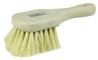 Weiler Vortec Pro 252 Utility Scrub Brush - Yellow Tampico Bristle - 8 in Overall Length - 25262