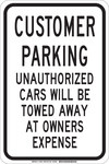 Brady B-555 Aluminum Rectangle White Parking Restriction, Permission & Information Sign - 12 in Width x 18 in Height - 129570