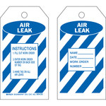 Brady 86435 Blue on White Polyester / Paper Maintenance Tag - 3 in Width - 5 3/4 in Height - B-837