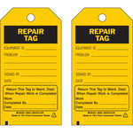 Brady 86434 Black on Yellow Polyester / Paper Maintenance Tag - 3 in Width - 5 3/4 in Height - B-837