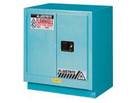 Justrite Chemcor 19 gal Blue Steel Hazardous Material Storage Cabinet - 30 in Width - 35 3/4 in Height - 697841-12071