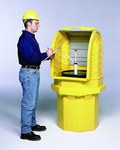 Sellars Yellow/Gray Polyethylene 70 gal Spill Workstation - Supports 1 Drums - 36 in Width - 36 in Length - 36 in Height - SELLARS 99640