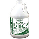 Carroll Clear Lemon Disinfectant - Liquid 1 gal Bottle - 27005