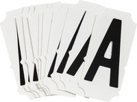Brady Quik-Align 6450-A Black Vinyl Letter Label - Outdoor - 2 in Height - 2 in Character Height - B-933