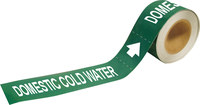 Brady Pipe Markers-To-Go 73886 Green Plastic Water Self-Adhesive Pipe Marker - 2 in Height - 12 in Length - B-736