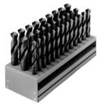 Chicago-Latrobe 190F Reduced Shank Drill Set - Split 118° Point - Spiral Flute - Right Hand Cut - High-Speed Steel - 69848