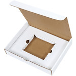 Shipping Supply Oyster White CD Literature Mailer Kits - 11.125 in x 8.75 in x 2 in - SHP-2811