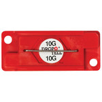 Red 10G Drop-N-Tell Indicators - 7/8 in x 2 in x 1/4 in - SHP-8346