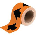 Brady 91410 Black on Orange Directional Flow Arrow Tape - 4 in Width - 30 yd Length - B-946