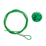 Brady Green Lockout Cable 122255 - 59 in Length - 754473-71198