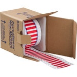 Brady Permasleeve 3PS-187-2-RD-S Red Polyolefin Die-Cut Thermal Transfer Printer Sleeve - 2 in Width - 0.335 in Height - 0.062 in Min Wire Dia to 0.15 in Max Wire Dia - Double-Side Printable - B-342