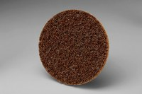 3M Scotch-Brite SC-DP Non-Woven Aluminum Oxide Maroon Surface Conditioning Quick Change Disc - Medium - 3 in Diameter - 13242