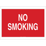 Brady B-555 Aluminum Rectangle Red No Smoking Sign - 20 in Width x 14 in Height - 141951