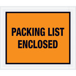 Shipping Supply Tape Logic Orange Packing List Enclosed Envelopes - 10 in x 12 in - 2 mil Thick - SHP-11604
