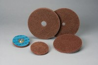 Standard Abrasives Buff and Blend 880915 GP A/O Aluminum Oxide AO Buffing Wheel - Very Fine Grade - 5 in Diameter - 1/4 in Center Hole - Shaft Attachment - 35845