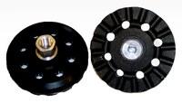 3M 28473 Hard Black Roloc Disc Pad - 4 in DIA - 5/8 - 11 Internal Thread Attachment