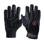 Impacto AV407 Black 9 (L) Grain Leather/Spandex Anti-Impact Work Gloves - 10 in Length - AV40740