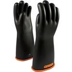 PIP Novax 155-4-16 Black/Orange 9 Rubber Work Gloves - 16 in Length - Smooth Finish - 155-4-16/9