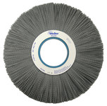 Weiler Silicon Carbide Wheel Brush 0.035 in Bristle Diameter 180 Grit - Arbor Attachment - 12 in Outside Diameter - 3 1/4 in Center Hole Size - 83630