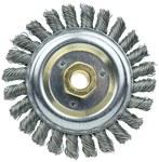 Weiler Dually Stainless Steel Wheel Brush 0.023 in Bristle Diameter 24 Grit - 5 in Outside Diameter - 5/8 in - 11 UNC Center Hole Size - 79813