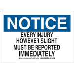 Brady B-555 Aluminum Rectangle White Accident Notice Sign - 10 in Width x 7 in Height - 127404