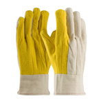 PIP 93-589 White/Yellow Large Cotton General Purpose Gloves - Straight Thumb - 9.5 in Length