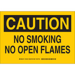 Brady B-555 Aluminum Rectangle Yellow No Smoking Sign - 10 in Width x 7 in Height - 128100