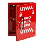 Brady Red Steel Lockout Device Station - 12 in Width - 10 in Height - 754476-45647