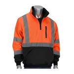 PIP Black/Orange Large Polyester Fleece Cold Weather Sweatshirt - 3 Pockets - 616314-18543