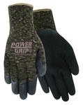 Red Steer Powergrip A302 Black Large Cotton/Polyester Work Gloves - Rubber Palm Only Coating - A302-L