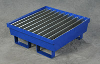 Eagle Blue Cold Rolled Steel 60 lb 17 gal Containment Pallet - Supports 1 Drums - 25.8 in Width - 27 in Length - 6 in Height - 048441-00891
