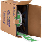 Brady Permasleeve 2HX-750-2-GR-S Green Polyolefin Die-Cut Thermal Transfer Printer Sleeve - 1.969 in Width - 1.236 in Height - 0.375 in Min Wire Dia to 0.7 in Max Wire Dia - Double-Side Printable - B-