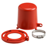 Brady Red Polypropylene Plug Valve Lockout 113234 - 1 to 8 in Compatible Diameter - 754473-17667
