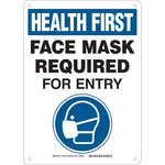Brady B-555 Aluminum Rectangle White PPE Sign - 7 in Width