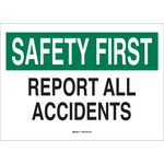 Brady B-302 Polyester Rectangle White Accident Notice Sign - 14 in Width x 10 in Height - Laminated - 35478