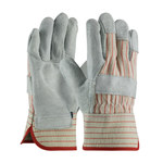 PIP 85-7512 Gray/Red XL Split Cowhide Leather Work Gloves - Wing Thumb - 10.5 in Length