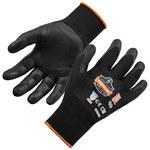 Ergodyne ProFlex 7001 Black Large Nylon Work Gloves - Nitrile Palm & Fingers Coating - 17954