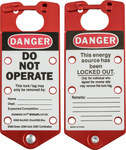 Brady Red Anodized Aluminum Lockout/Tagout Hasp 65960 - 3 in Width - 7 1/4 in Height - 6 Padlock Capacity - 754476-65960