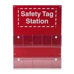 Brady Red/White OSHA Tag Station - 10 Pockets - 16 1/2 in Width - 22 in Height - 754476-81773