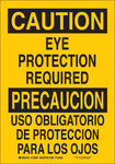 Brady B-120 Fiberglass Reinforced Polyester Rectangle Yellow PPE Sign - 10 in Width x 7 in Height - Language English / Spanish - 122806