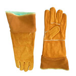 Chicago Protective Apparel Split Cowhide Leather Welding Glove - Wing Thumb - 18 in Length - 125-WS-18
