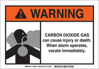 Brady B-120 Fiberglass Reinforced Polyester Rectangle White Chemical Warning Sign - 10 in Width x 7 in Height - 106021