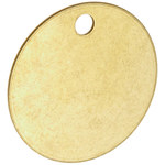 Brady 23210 Brass Circle Brass Blank Valve Tag - 1 1/2 in Dia. Width - 0.04 in Height - B-907