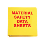 Brady Red on Yellow MSDS & GHS Data Sheet Binder - MATERIAL SAFETY DATA SHEETS - English - 754476-45337