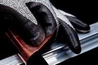 3M Comfort Grip Gray Large Nylon Cut-Resistant Gloves - ANSI 3 Cut Resistance - Nitrile Foam Palm & Fingers Coating