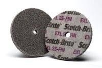 3M Scotch-Brite XL-UW Unitized Silicon Carbide Soft Deburring Wheel - Fine Grade - Arbor Attachment - 3 in Diameter - 3/8 in Center Hole - 3/8 in Thickness - 17886