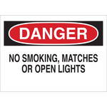 Brady B-120 Fiberglass Reinforced Polyester Rectangle White No Smoking Sign - 20 in Width x 14 in Height - 75670