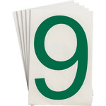 Brady Toughstripe 121904 Green Polyester Number Label - Indoor - 6 in Width - 8 in Height - 8 in Character Height - B-514